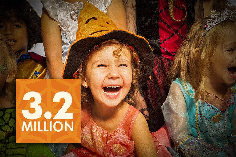 3.2 million children are expected to dress as a princess this year.