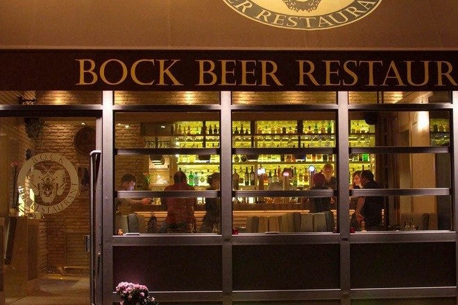 Bock beer restaurant