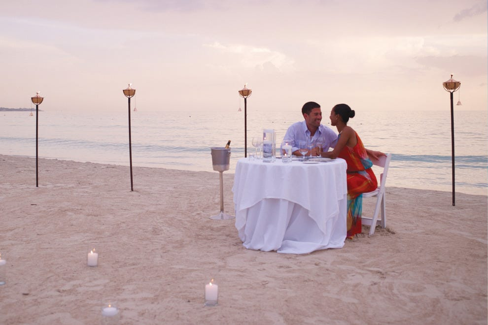 There's no kids table for holiday meals at Couples Tower isle in Jamaica.
