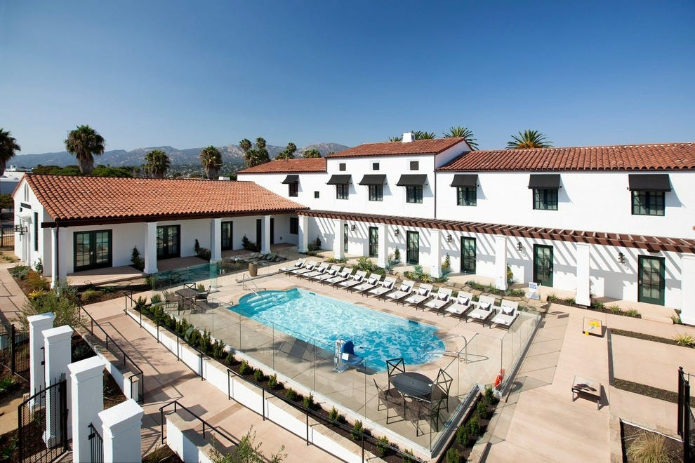 Enjoy a dip in The Wayfarer's sparkling pool, not too far from downtown Santa Barbara