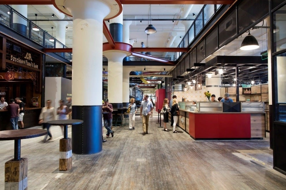 At the heart of Ponce City Market, the Central Food Hall combines a curated selection of internationally inspired restaurants and Atlanta-based purveyors