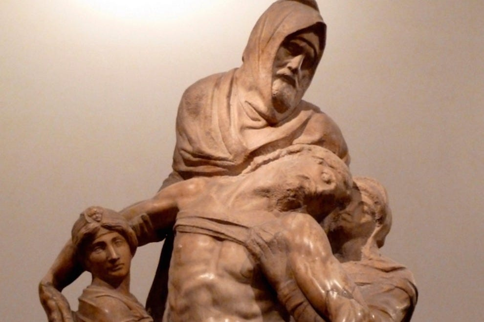 "At the Opera del Duomo Museum, you really must visit Michelangelo's stunning ""Pieta del Duomo"""