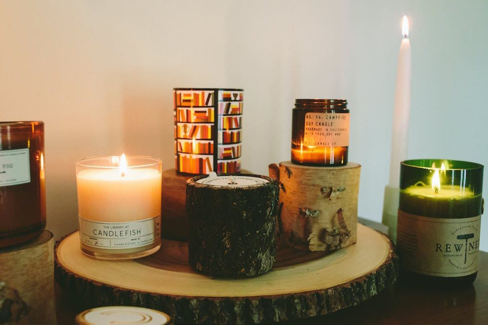 Yes, you can recreate the smells of fall inside–Candlefish has you covered.