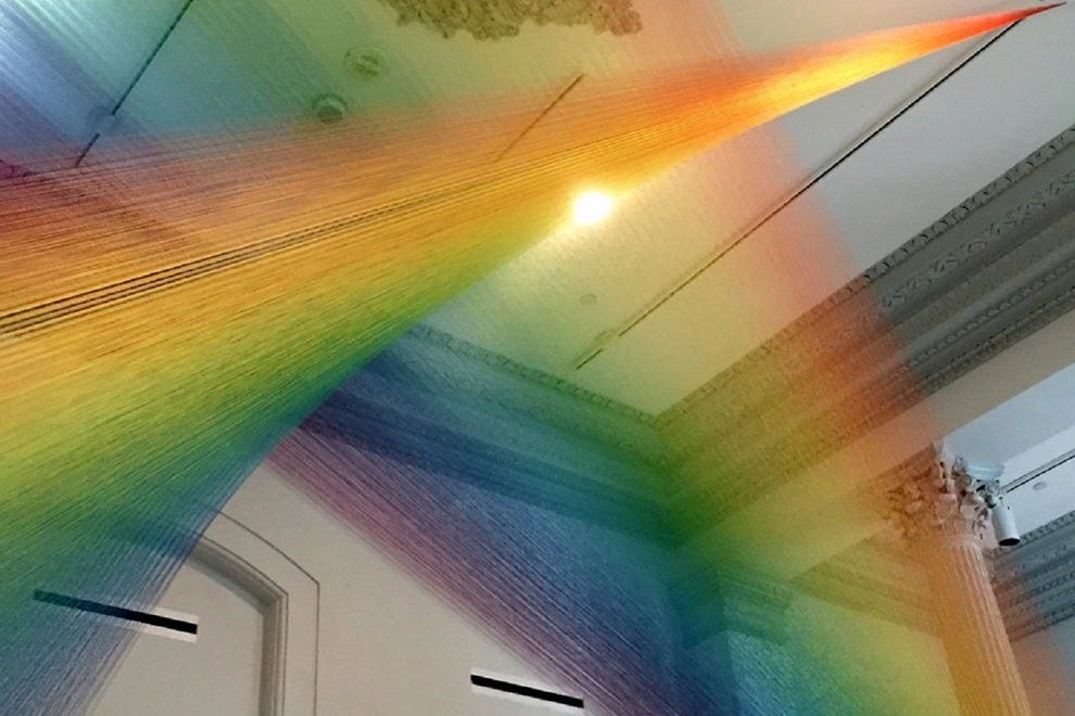 Gabriel Dawe's <i>Plexus A1</i>, part of the new exhibit at the Smithsonian American Art Museum's Renwick Gallery