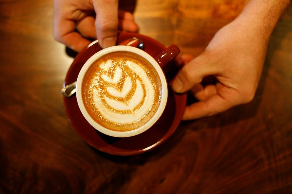 A beautifully presented cup of warm goodness at Ozo Coffee Company, one of the great coffeehouses in Boulder