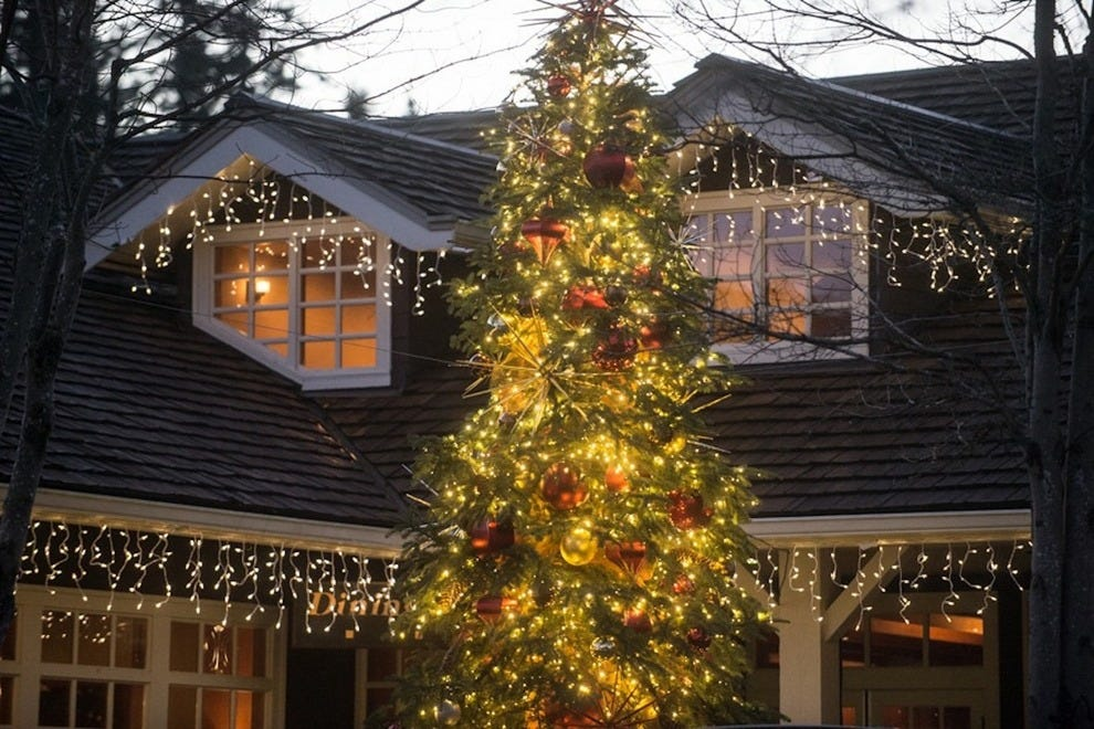 The lodge sparkles especially brightly at this time of year