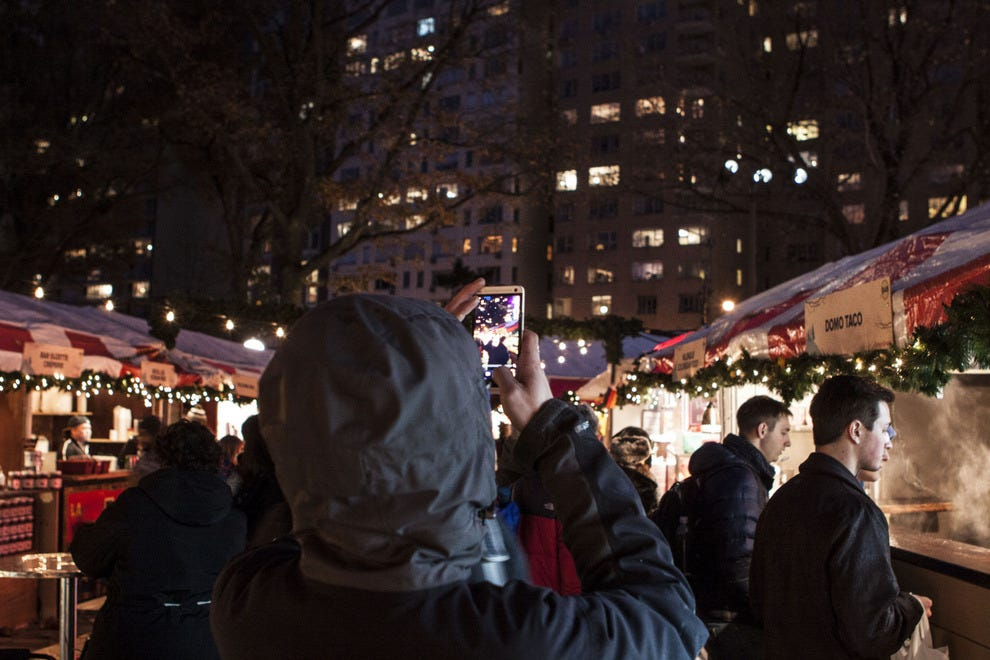 Take it all in. The Columbus Circle Holiday Market only comes once a year!