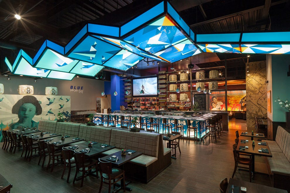 Blue Sushi Sake Grill's main dining room