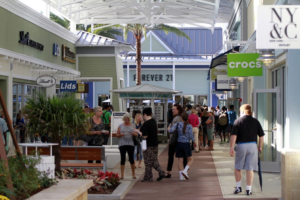 Shoppers have over 100 upscale retail options to choose from at Tampa Premium Outlets