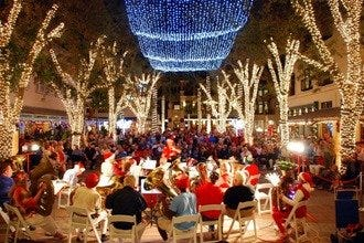 The Holidays in Naples: Twinkling Palms, Theater, Boats and... Snow!