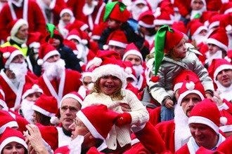 Edinburgh Santa Fun Run