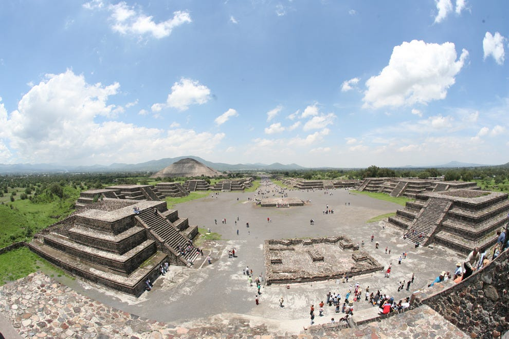"Climb the pyramids of the sun and moon at the ""City of the Gods,"" Teotihuacan"