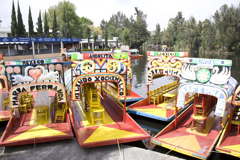 Spend the day on the canals in one of these trajineras