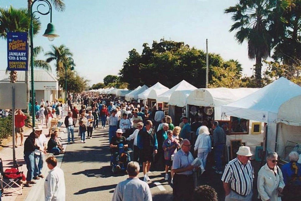 Some 100,000 people attend the annual Cape Coral Festival of the Arts each January
