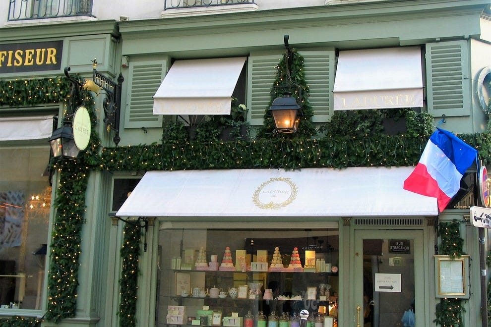 Ladurée's locations in Paris offer an elegant pause in your day of shopping and sightseeing