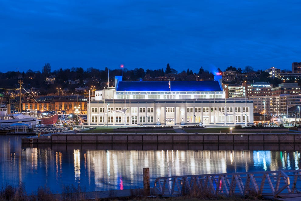The venue dazzles on the south end of Lake Union