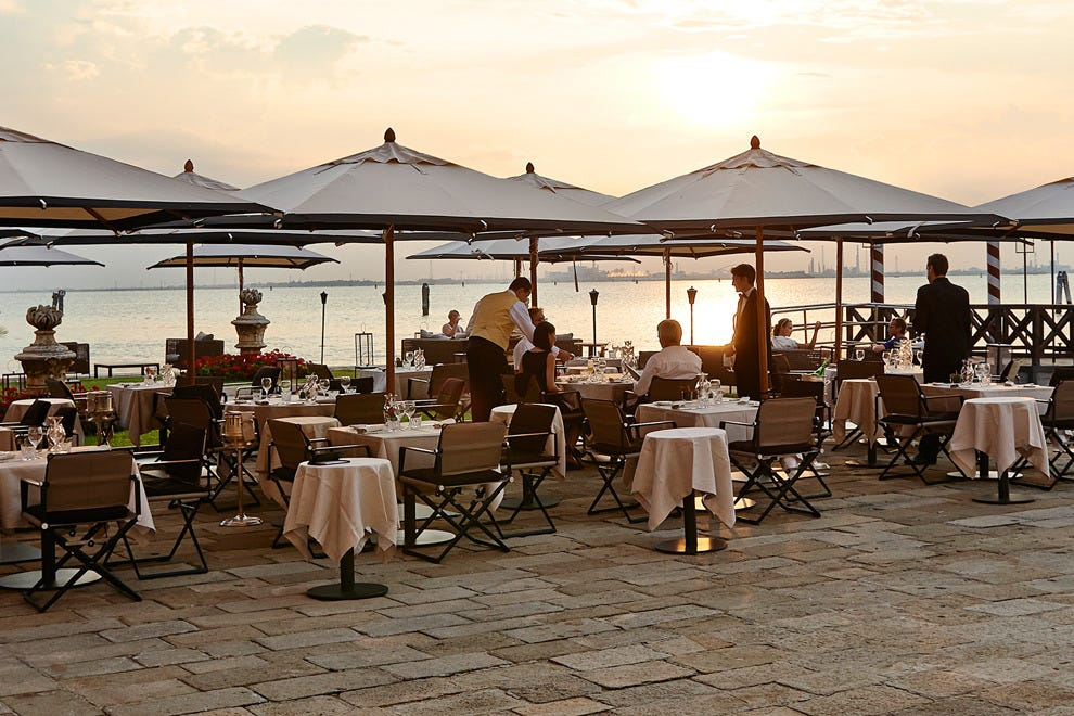 Acquarello Restaurant at the San Clemente Palace Kempinski Venice, set on its own private island