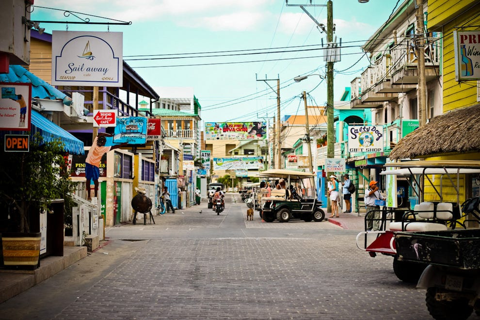 Downtown San Pedro on Ambergris Caye