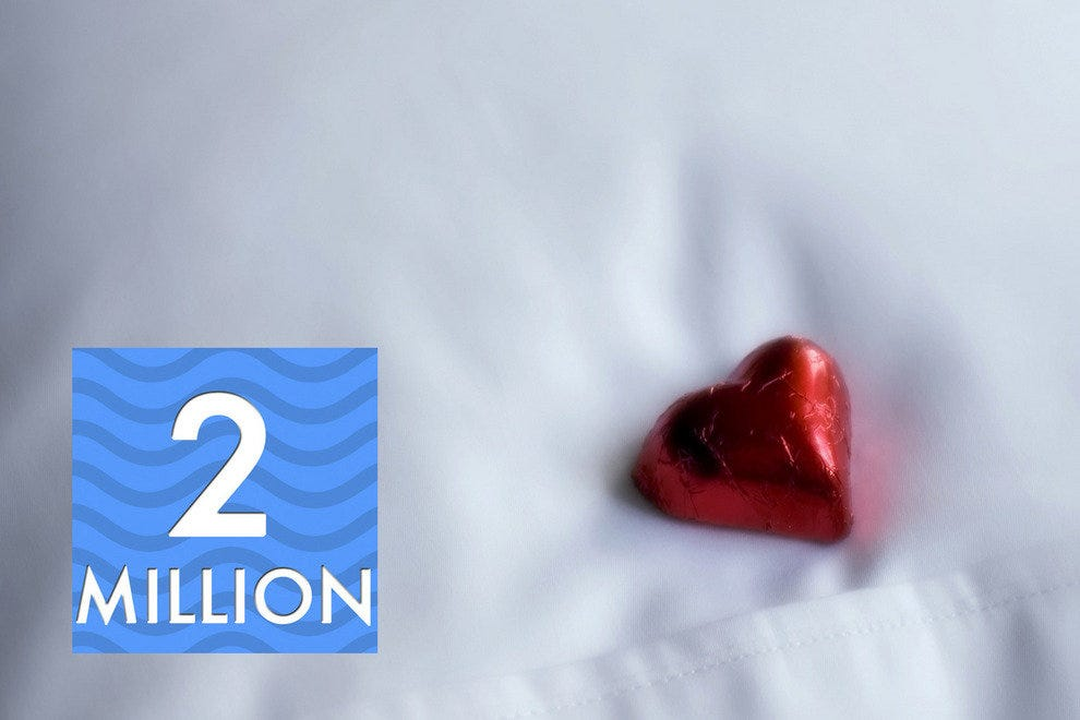 2 million individual pieces of chocolate get placed on guest pillows each year.