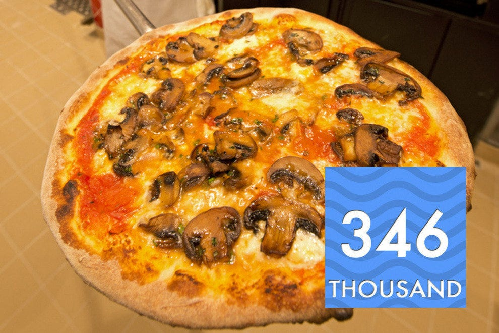 24-hour Pizza Pirate aboard Breeze tosses and serves 346,000 pies per annum.