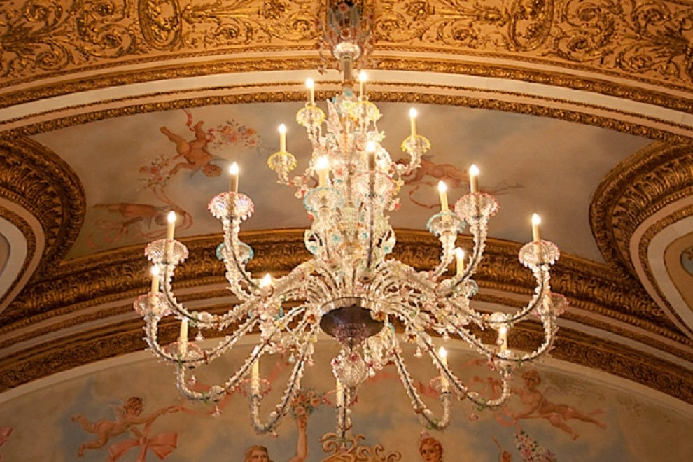 Chandelier at The French Room