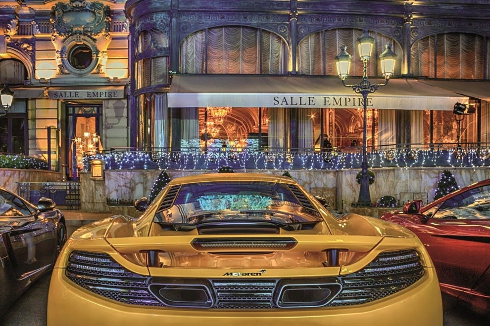 McLaren in Monaco Casino Square