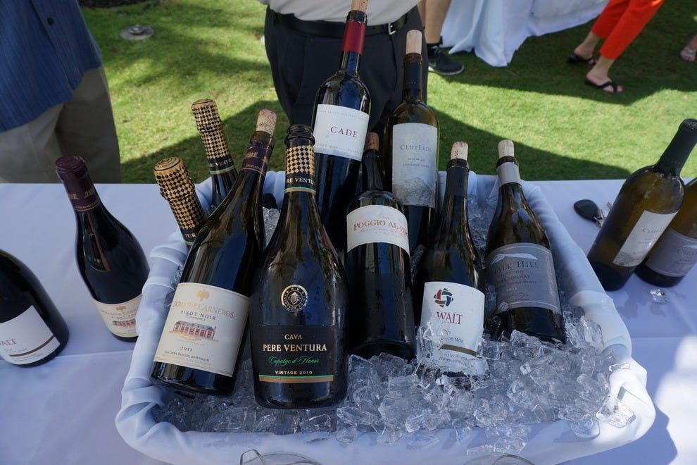 Wines from around the world are generously sampled at the Grand Tasting