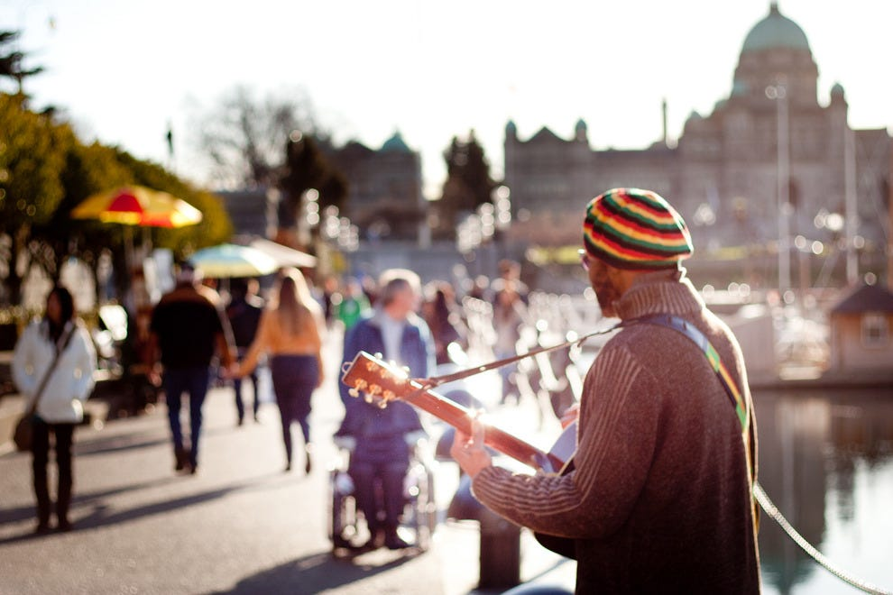 Music lovers get their fix from buskers (especially in the summertime) or at venues around town