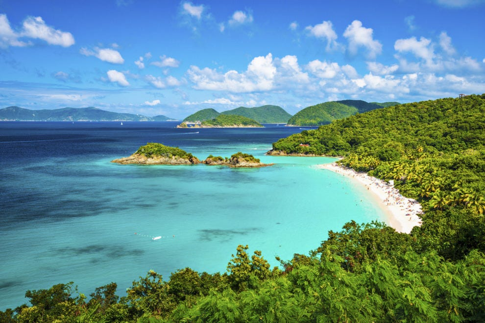 Trunk Bay Beach Virgin Islands National Park
