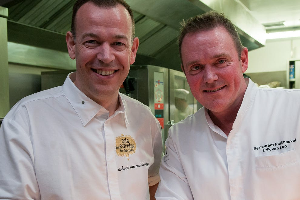 Two times two equals four: Dutch chefs Richard van Oostenbrugge and Erik van Loo.