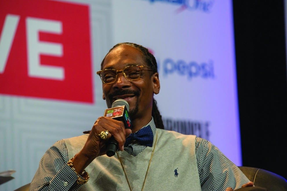 Snoop Dogg during the SXSW 2015 Keynote Conversation