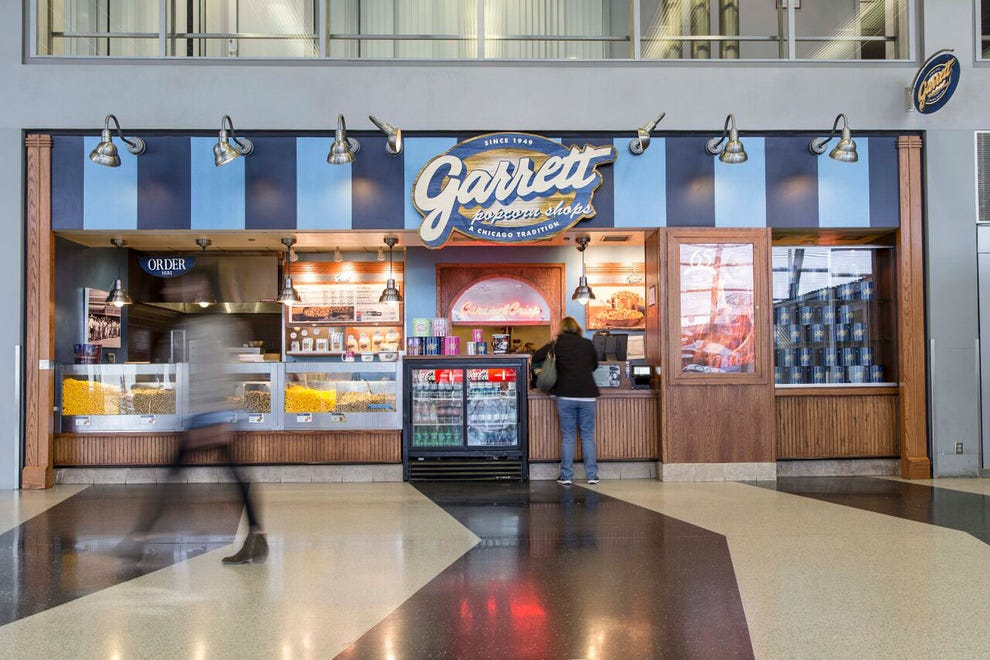 Perfect airport snack? 10Best readers voted Garrett Popcorn Shops at Chicago O'Hare.