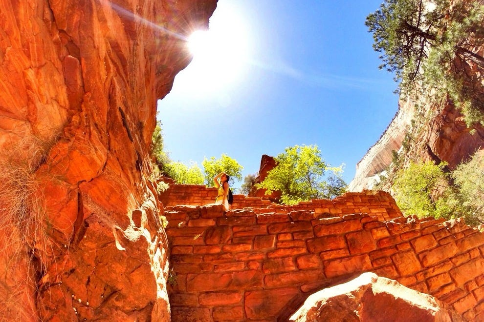 Angels' Landing trail is great for casual or vigorous hikes.
