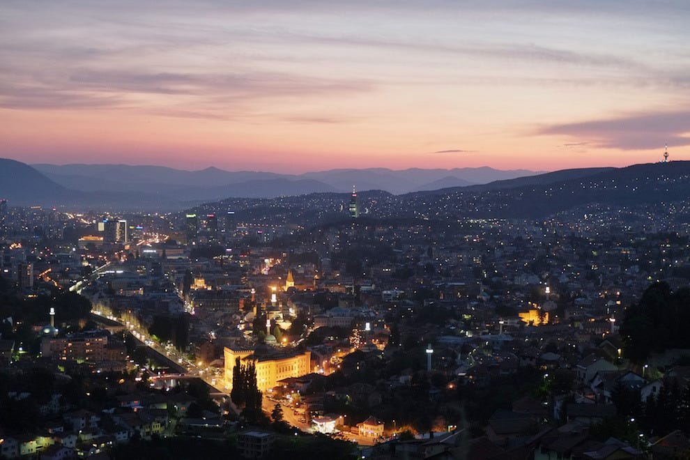 Go for street food or fine dining in Bosnia and Herzegovina's capital, Sarajevo