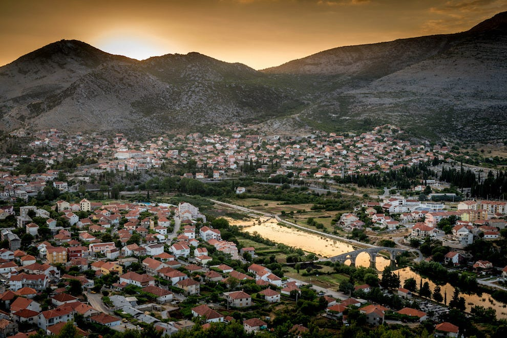 Set off on a culinary tour of Bosnia and Herzegovina starting in the town of Trebinje