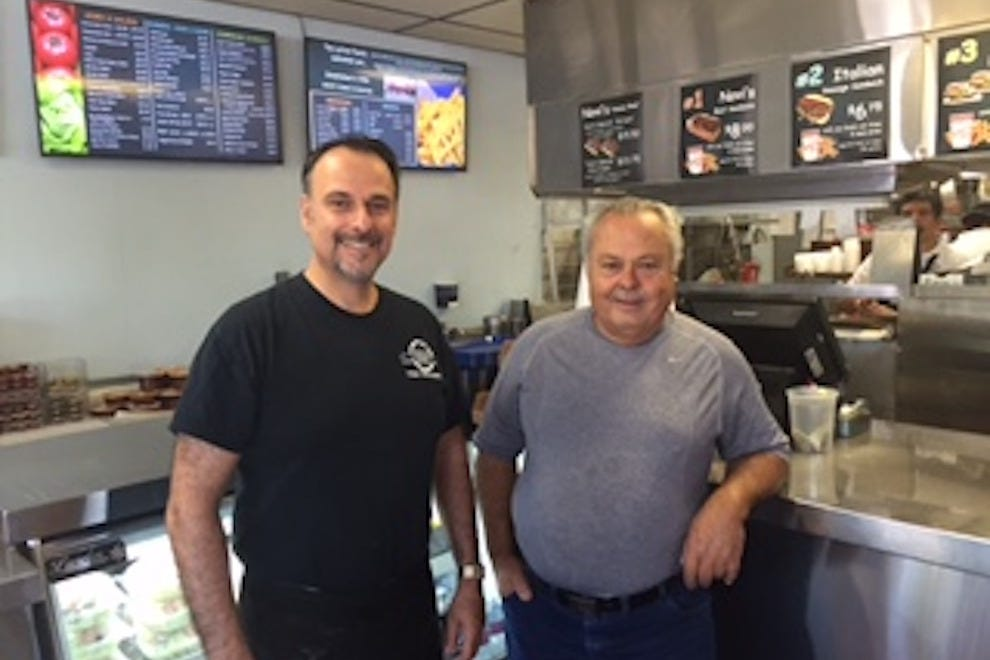 Bob (left) and Danny (right) Lattas, co-owners of Novi's Beef since 1989