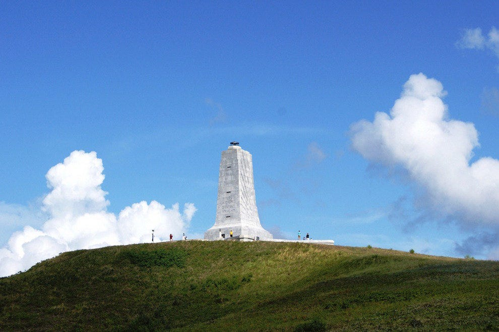 Monument at the Wright Brothers National Memorial