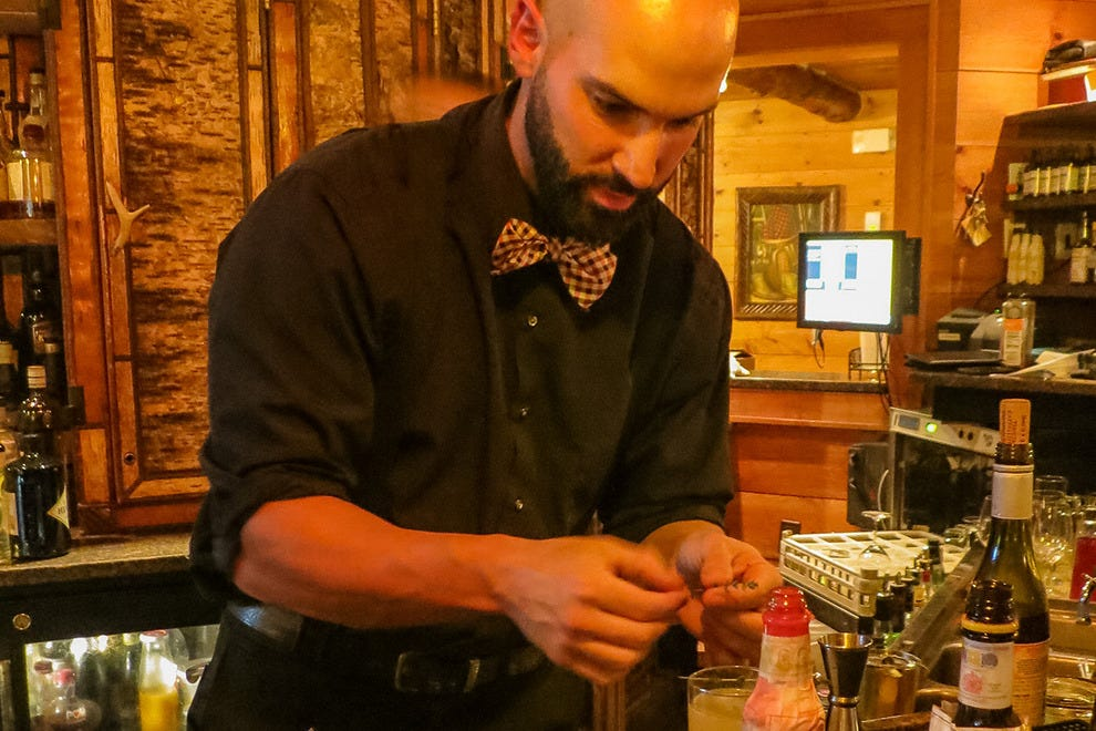 Bartender Zack at KANU Lounge Whiteface Lodge
