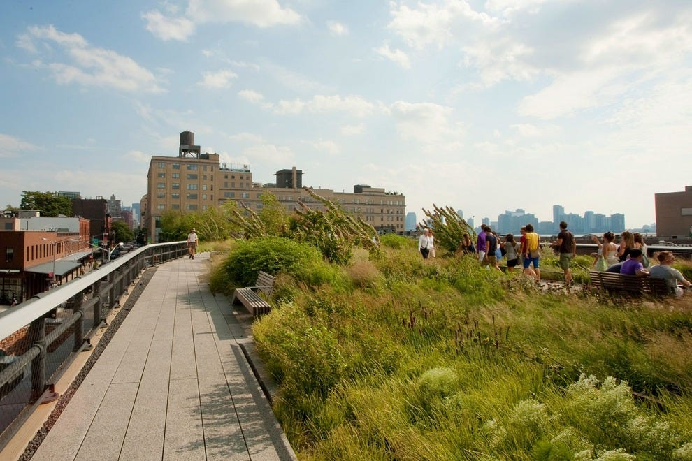A walk on New York's High Line may be new to parents. The overhead park, formerly a railroad spur,  opened in 2009.