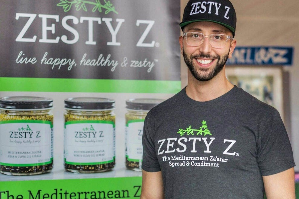 Alexander Harik, the founder of Zesty Z, a Mediterranean za'atar condiment and spread