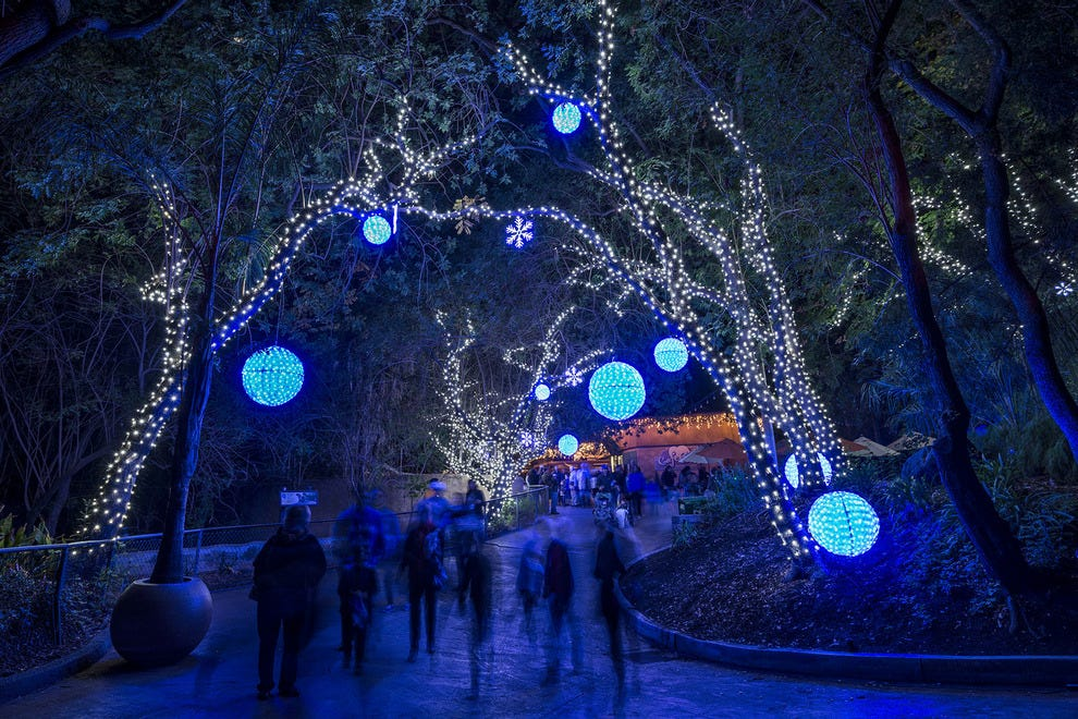 la zoo lights at the los angeles zoo los angeles - Toledo Zoo Lights Before Christmas