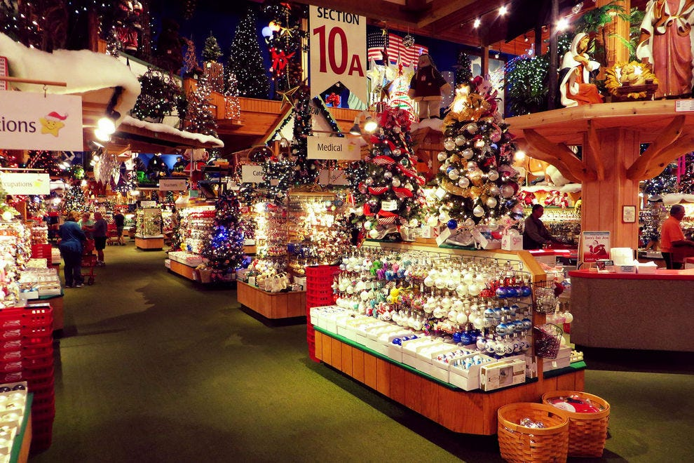 bronners christmas wonderland is filled with numerous types of christmas decorations