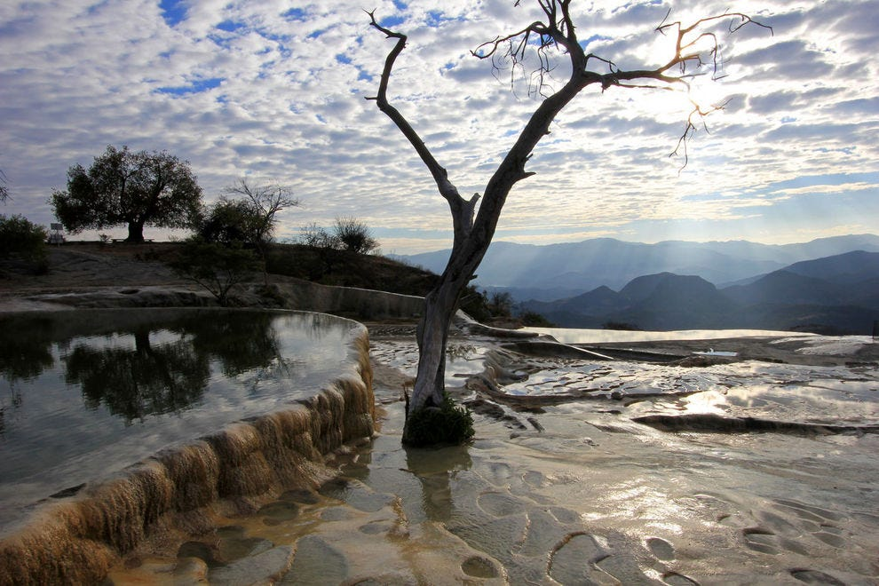 Hierve el Agua (the frozen waterfall)