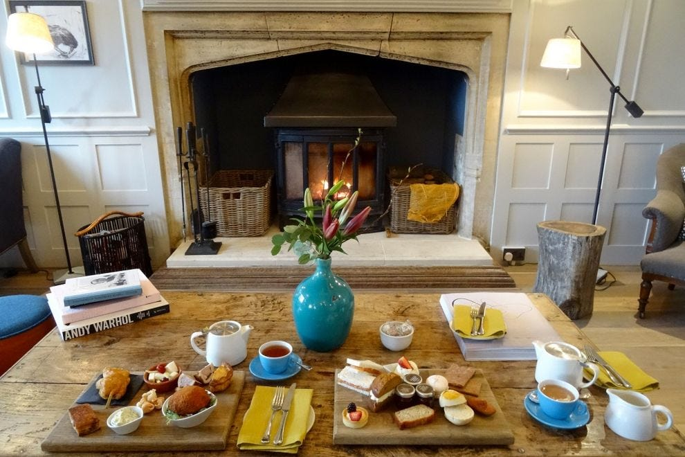 Afternoon tea at The Painswick can be a fireside treat