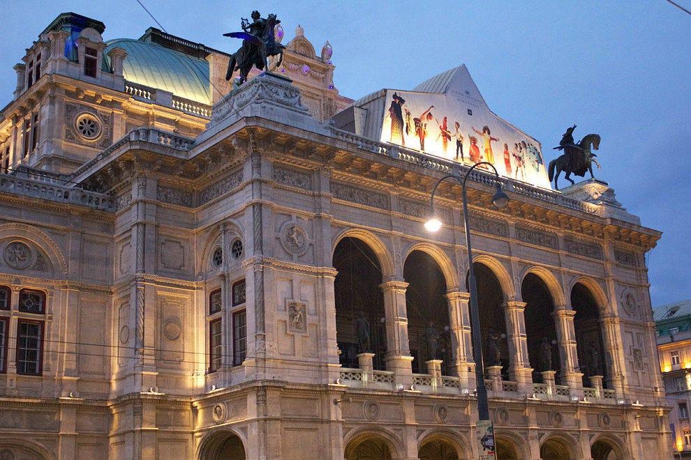 Wiener Staatsoper Достопремечательности Вены Достопремечательности Вены Vienna State Opera 54 990x660