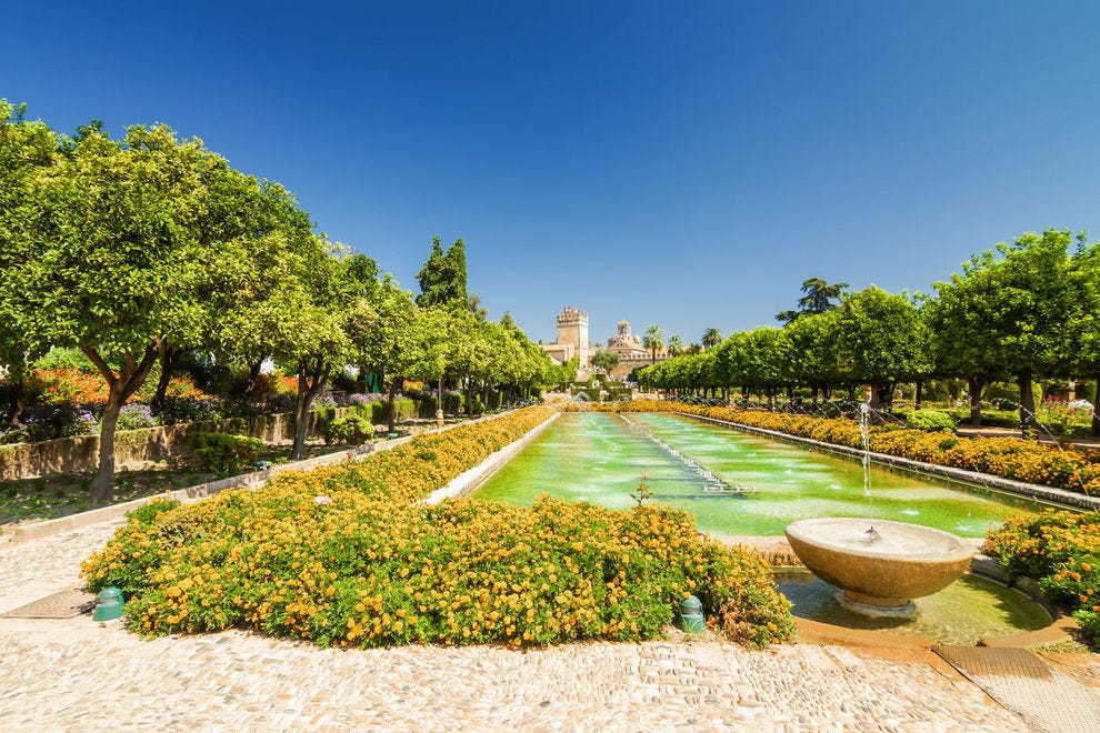 Gardens of Alcazar in Southern Spain