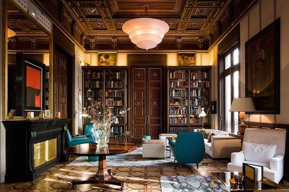 The Library at Cotton House, Barcelona