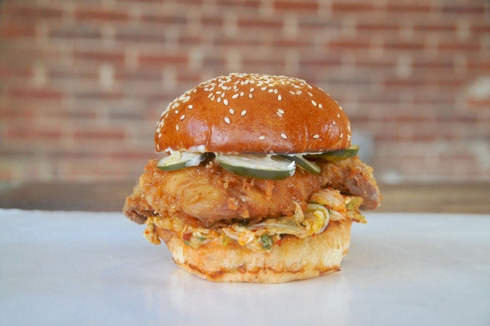 Vote fred 39 s meat bread best fried chicken sandwich for Fred s fish fry
