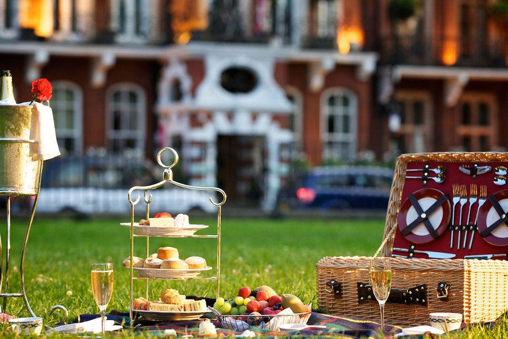 Afternoon Tea Picnic in the Park at The Milestone Hotel, London