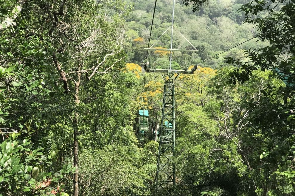 To ride the aerial tram in Soberania National Park you must be accompanied by a guide.